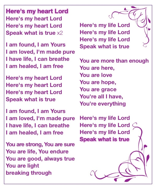 here's my heart Lord