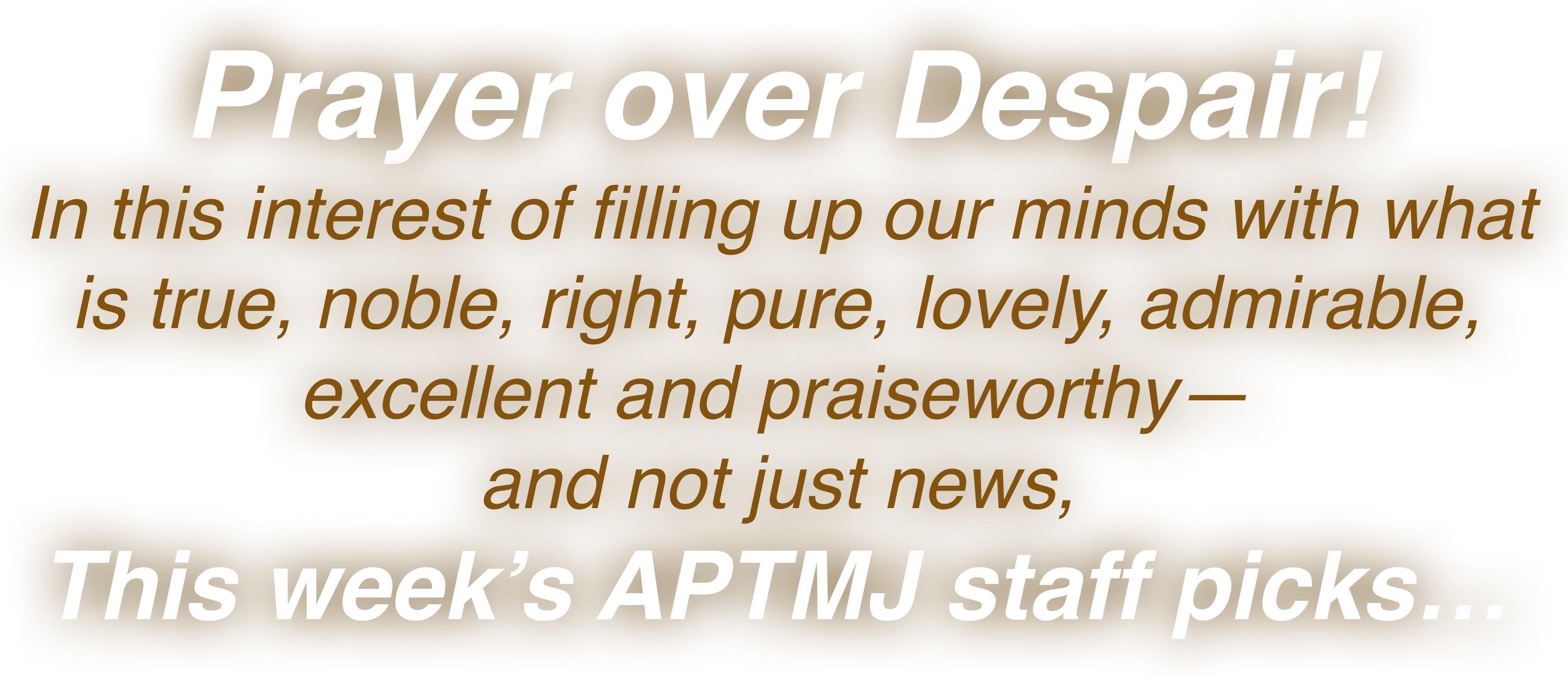 Prayer over Despai